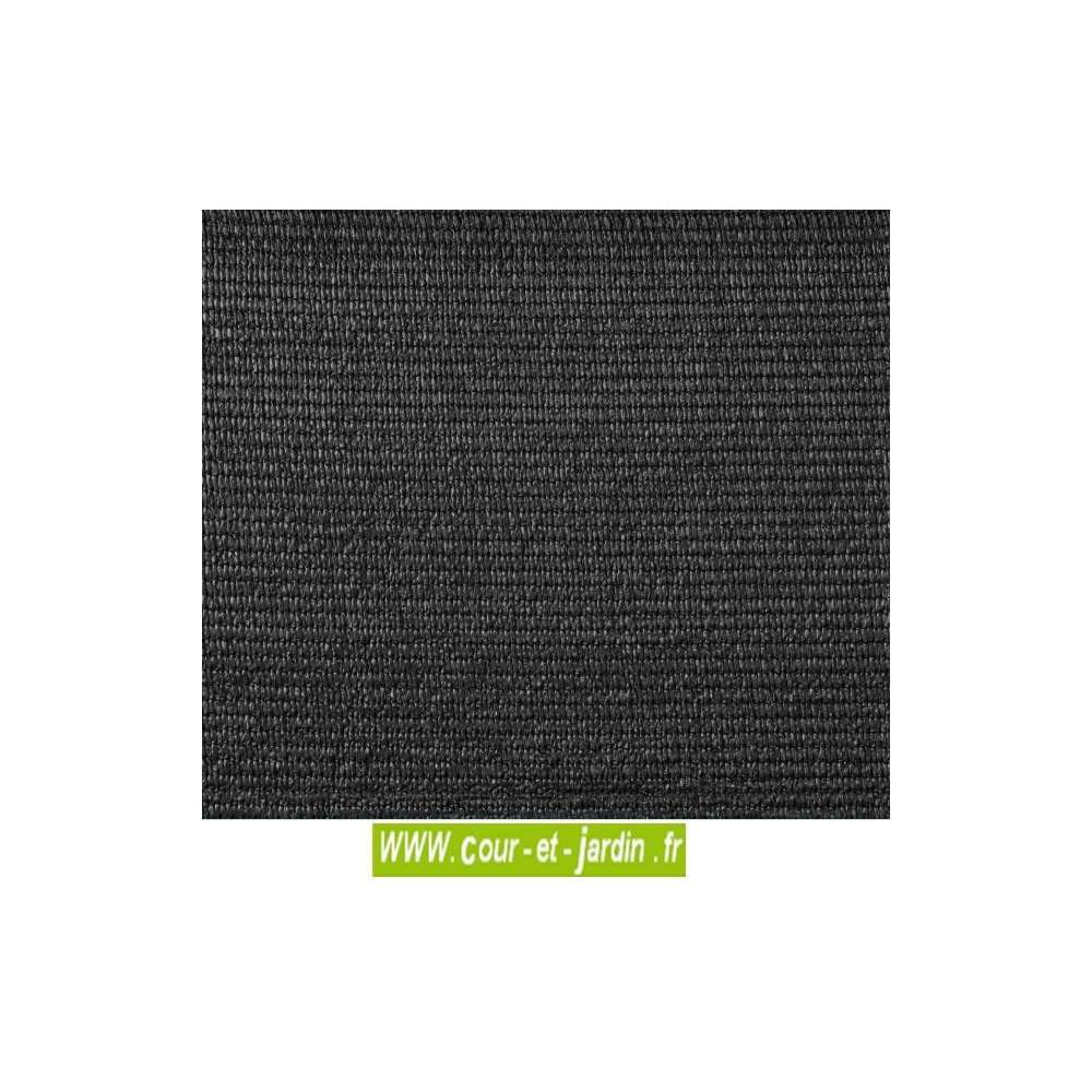 brise vue toile hdpe 300gr m gris rouleau 10m. Black Bedroom Furniture Sets. Home Design Ideas