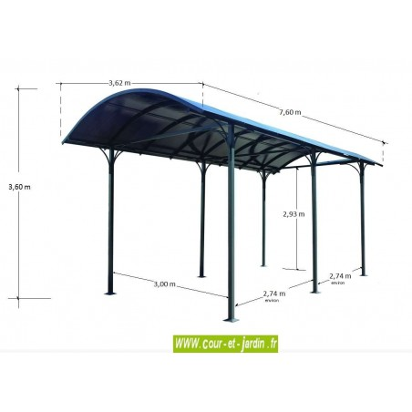 Carport camping car alu en kit abri camping car aluminium abris - Carport camping car ...