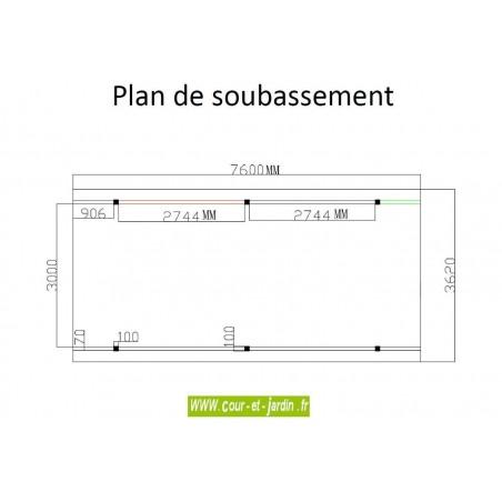 plan d'implantation du carport camping car aluminium (362x760)