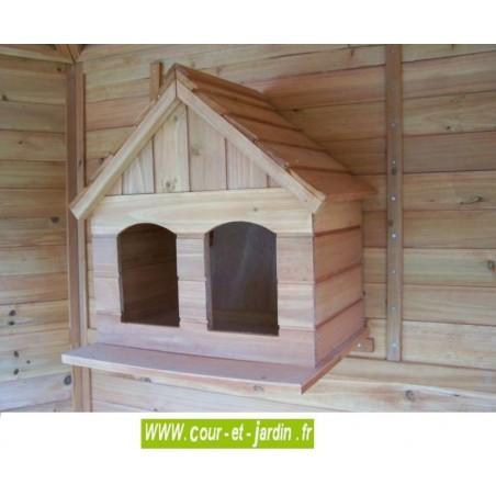 Volière hexagonale PO H23 - nichoir - Cage oiseau en bois non traité