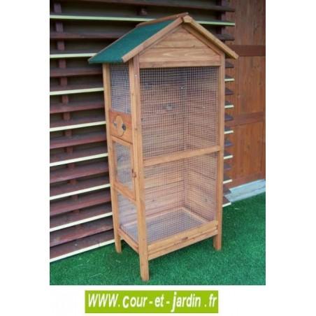 cage oiseaux sur pied voliere bois cage a oiseaux sur pied. Black Bedroom Furniture Sets. Home Design Ideas