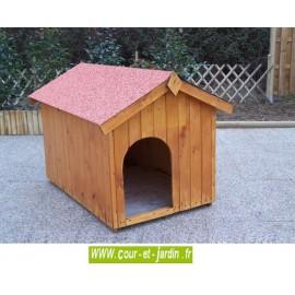 Niche à chien NC0812.01 en bois 70x106 avec plancher