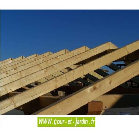 Carport 3x4m charpente en bois trait de carport toit 2 for Bois de charpente traite