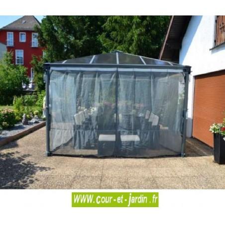 set de 2 moustiquaires pour tonnelles couv 39 terrasse de 300x300 et 360x360. Black Bedroom Furniture Sets. Home Design Ideas