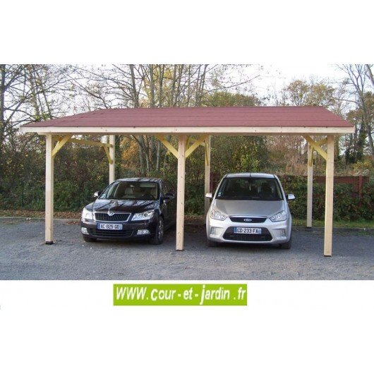 carport 2 voitures adoss carport adoss 2 voitures. Black Bedroom Furniture Sets. Home Design Ideas