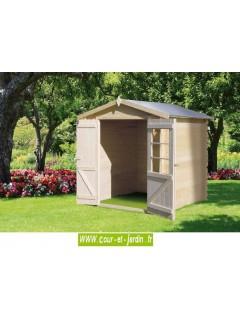Abri de jardin 2mx2m en bois non trait azur - Abri jardin en dur saint etienne ...