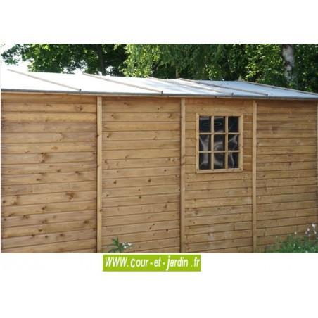 Garage en bois en kit voiture abris de jardin ou for Garage bois traite