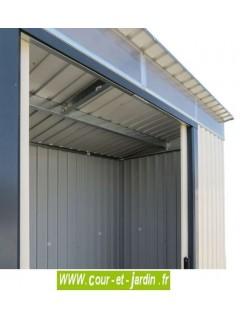 Abri de jardin métallique SKYLIGHT 8x6 Duramax - toit une pente