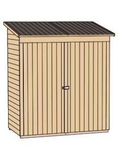 Armoire de jardin FLACHDACH Weka 361 en bois 2 portes (163x85cm)
