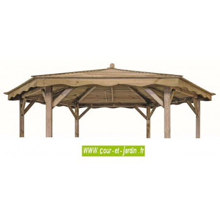 tonnelle lora hexagonale en bois tonnelle hexagonale lora en bois. Black Bedroom Furniture Sets. Home Design Ideas