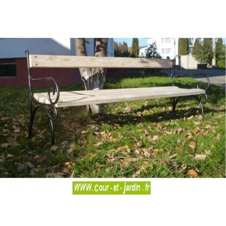 banc de jardin fer forg acier et bois m tal pas cher bancs de jardin. Black Bedroom Furniture Sets. Home Design Ideas