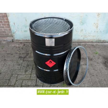 Barbecue charbon de bois BARRELQ BIG. Ce barbecue à charbon de bois ou barbecue rond fait 57 cm de diamètre