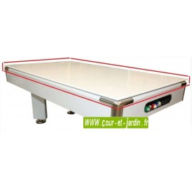 Plateau pour billard Portofino. Ce plateau table billard blanc laqué, est conçu pour le billard transformable Portofino.