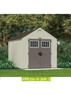 Abri de jardin polyéthylène 35mm (S:7,90 m²) Suncast Woodgrain avec Plancher