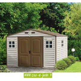 Abri de jardin PVC 10x8 WoodStyle 320x240cm