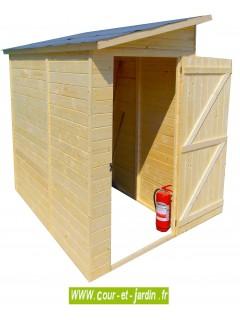 Abri de jardin bois à porte latérale ED 1220.02. Cet abri adossé ou abri de jardin pas cher en bois n' pas de plancher