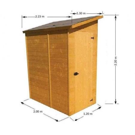 abri de jardin mural adoss abri mural bois abris de. Black Bedroom Furniture Sets. Home Design Ideas