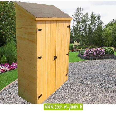 armoire de jardin en bois murale adossable pour rangement. Black Bedroom Furniture Sets. Home Design Ideas