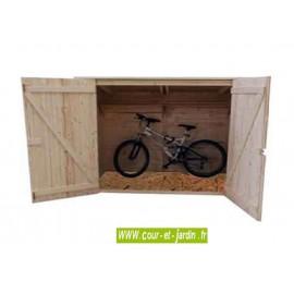 Abri vélo  Vue intérieure de l Abri de jardin avec plancher ED2012.01 en  bois. 89e8fb04bc11