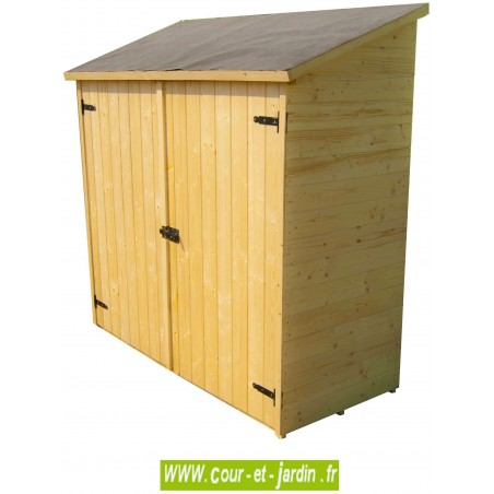 armoire de jardin bois rangement ext rieur adossable armoires jardin. Black Bedroom Furniture Sets. Home Design Ideas