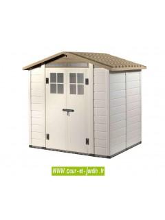 Abri jardin PVC EVO 200 de 202 x 162 cm  -  de la gamme des abris résine