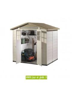 Abri PVC, de jardin en resine pas cher, en kit, abri de jardin résine