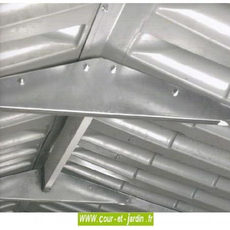 Renfort du toit de l'Abri PVC  EVO 200 de (202x162 cm au sol) - abri de jardin pas cher