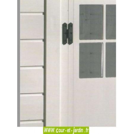 Détail de la porte des abris de jardin en PVC EVO 200 -  abris en PVC