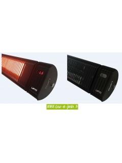 Chauffage infrarouge 3000w noir à télécommande