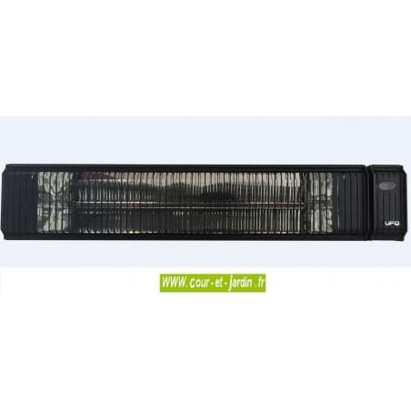 Chauffage par infrarouge électrique 3000w Solar, noir, avec une télécommande