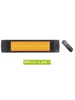 Chauffage d'appoint infrarouge Black line 2500w à télécommande