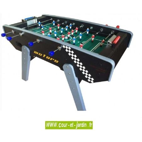 Baby foot noir Motors évolution Luxe de Cortes Games. Ce baby foot pas cher ressemble à un vrai baby foot de bar.