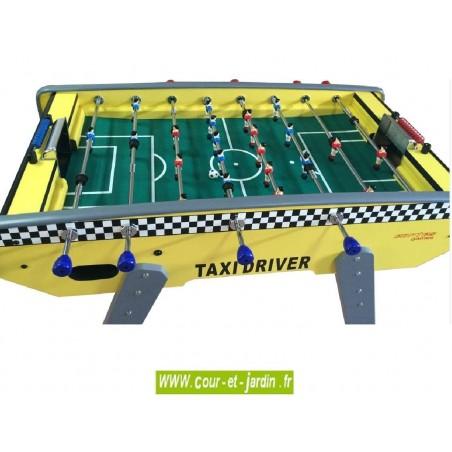 Table de Baby foot : Taxidriver Evolution Luxe. Ce baby foot enfant ou babyfoot adulte est un baby foot moderne.