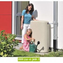 Récupérateur d'eau mural TERRA 275L coloris sable