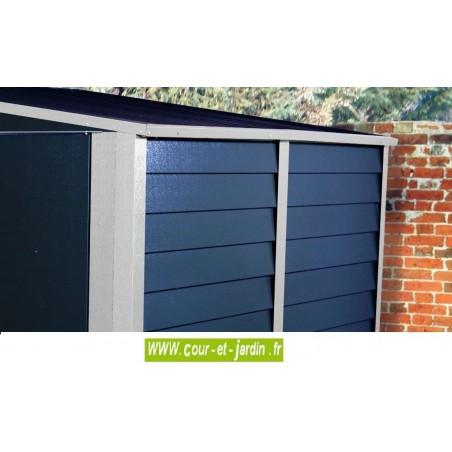 Abri jardin metal, Garage à motos couleur anthracite de Trimétals