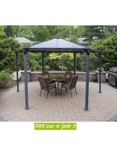 tonnelle couv 39 terrasse pergola hexagonale aluminium. Black Bedroom Furniture Sets. Home Design Ideas