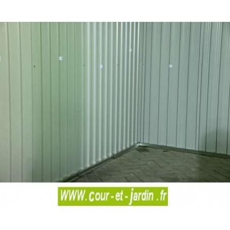 Intérieur de l'abri de jardin en metal TITAN 8x8 Duramax - abri pour moto pas cher.