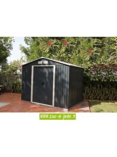 Abri de jardin métal TITAN 8x8 Duramax (ext. toit 261x242) S: 6,31 m2 - Cet abri moto doit être fixé au sol