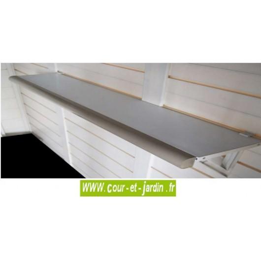 Etagères pour abri jardin PVC EVO, kit accessoires abri PVC, lot de 2