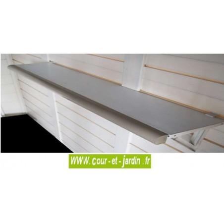 Kit de 2 étagères PVC : EVO ETA2 pour abris de jardin PVC EVO . Ces étagères sont vendues uniquement avec un abri PVC EVO