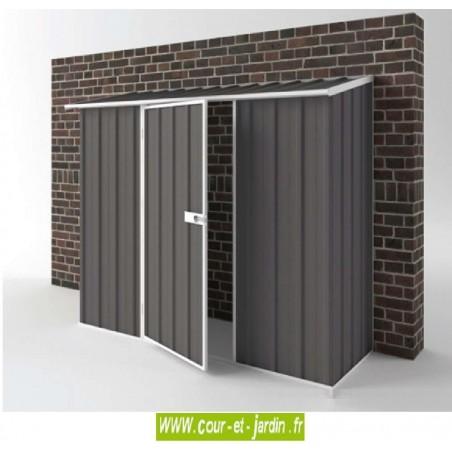 Abri de jardin métal Compact 1,7 m² en métal (de 225 cm x 75)