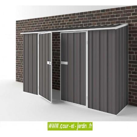 Abri de jardin adossable 2,25m² en metal de EasyShed, abri metal