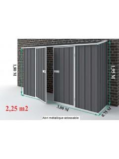 Dimensions de l' Abri jardin metal Compact 2,25m²