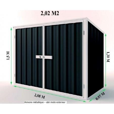armoire de jardin metal coffre de rangement multifonction. Black Bedroom Furniture Sets. Home Design Ideas