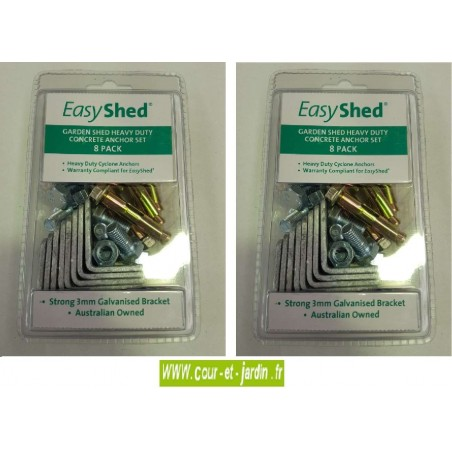 Kit d'ancrage de 2 sachets pour garages métalliques EasyShed