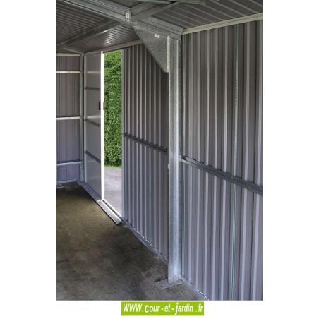 Garage metal porte et panneaux acier avec garantie 15 ans - Porte de garage grande hauteur ...