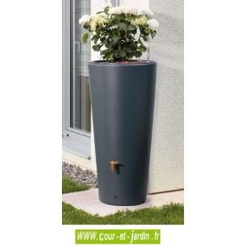 Récupérateur d'eau de pluie pas cher Vaso 2 en 1 avec bac à plantes. Ce récupérateur d'eau pluviale est vendu avec un collecteur