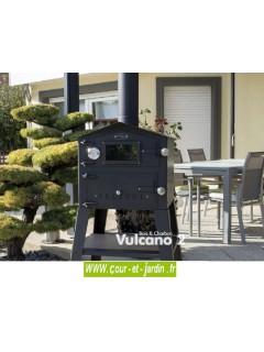 Four à pizza à bois extérieur Vulcano 2 . Ce four a pizza pas cher est aussi un petit four a pain