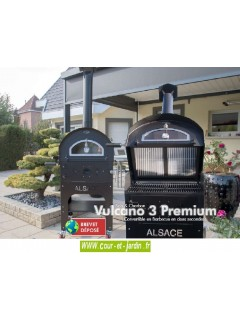 Four Barbecue Vulcano 3 Premium multifonction de jardin