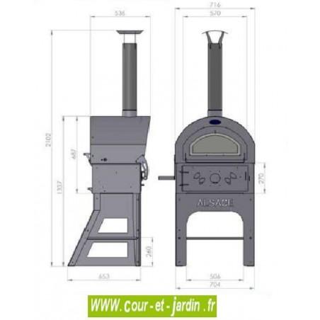 Four Barbecue Vulcano - 3 dimensions